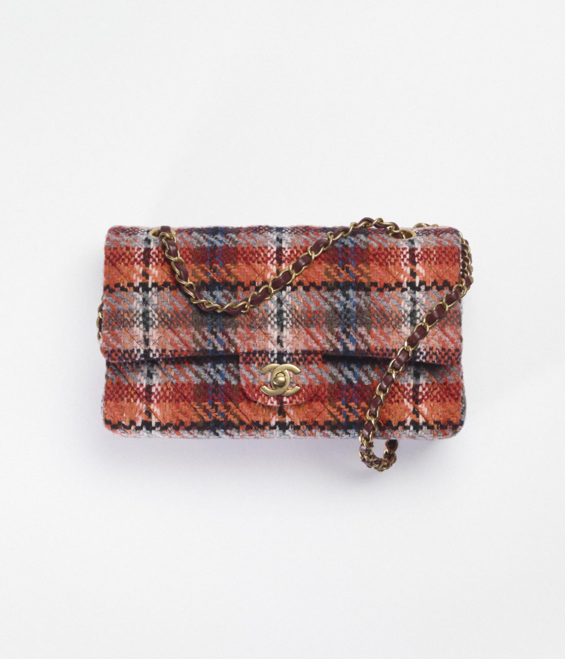 image 1 - Classic Handbag - Tweed & Gold-Tone Metal - Multicolor