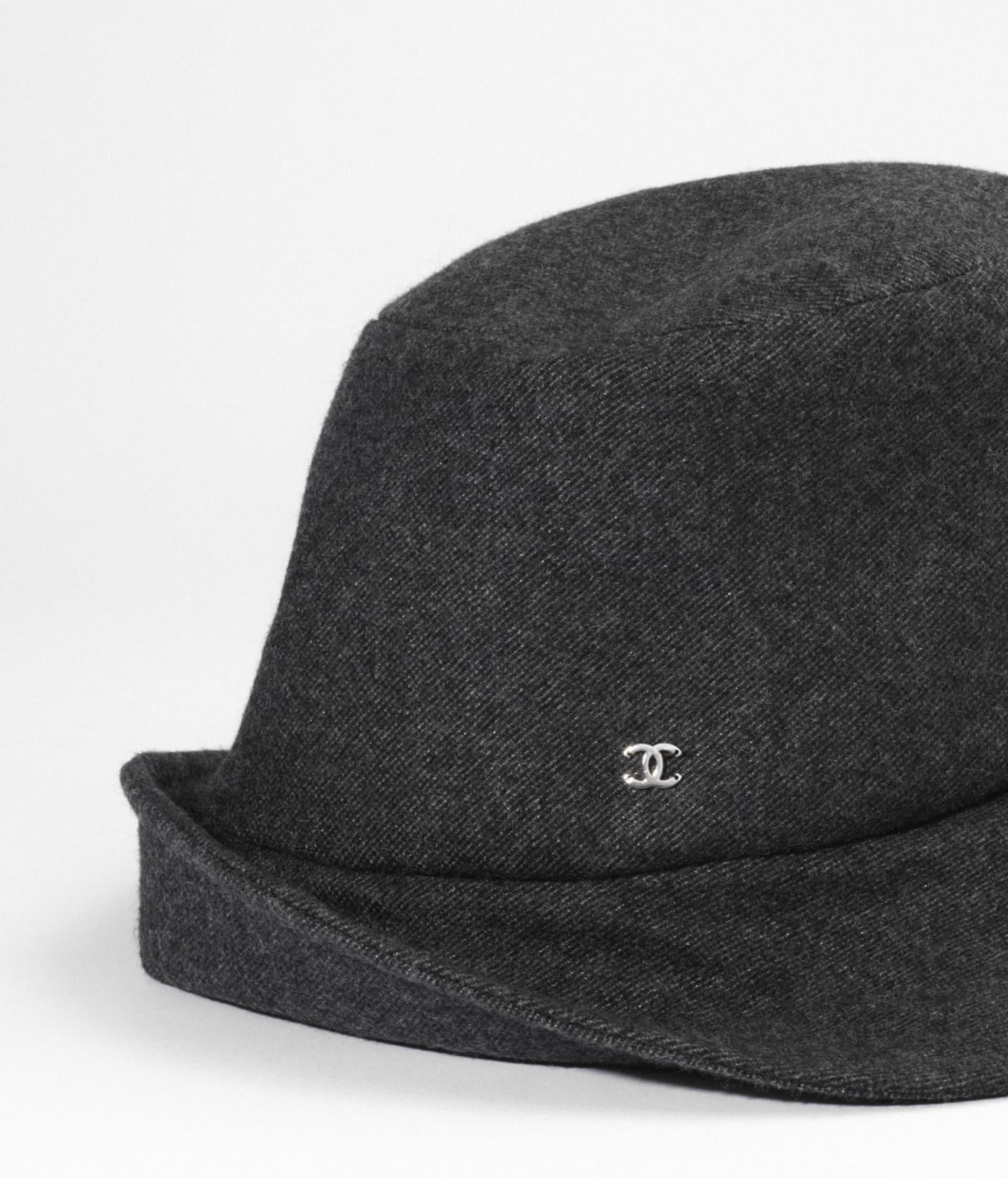 image 2 - Cloche Hat - Tweed - Gray, Black & Silver