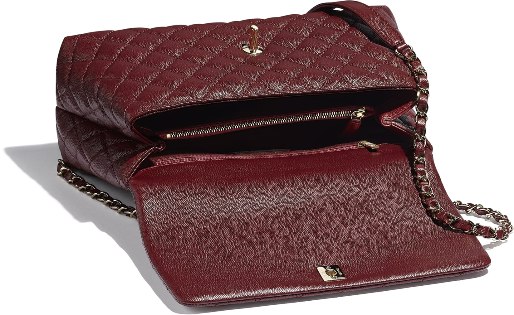 Large Flap Bag With Top Handle
