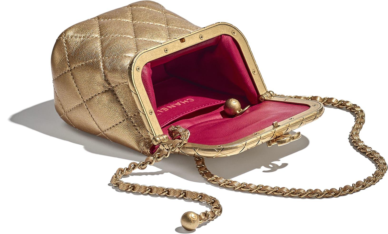 Bolsa Pequena com Fecho Tabatière