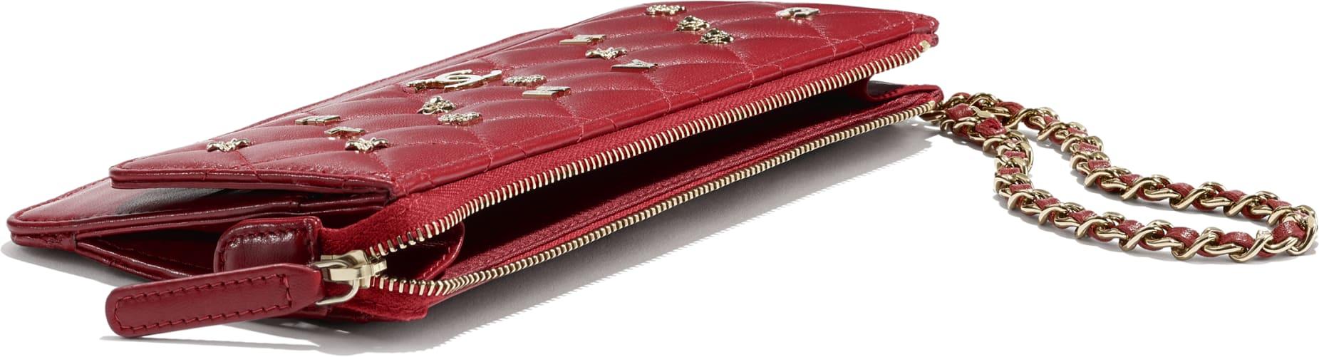 핸들 장식의 지갑