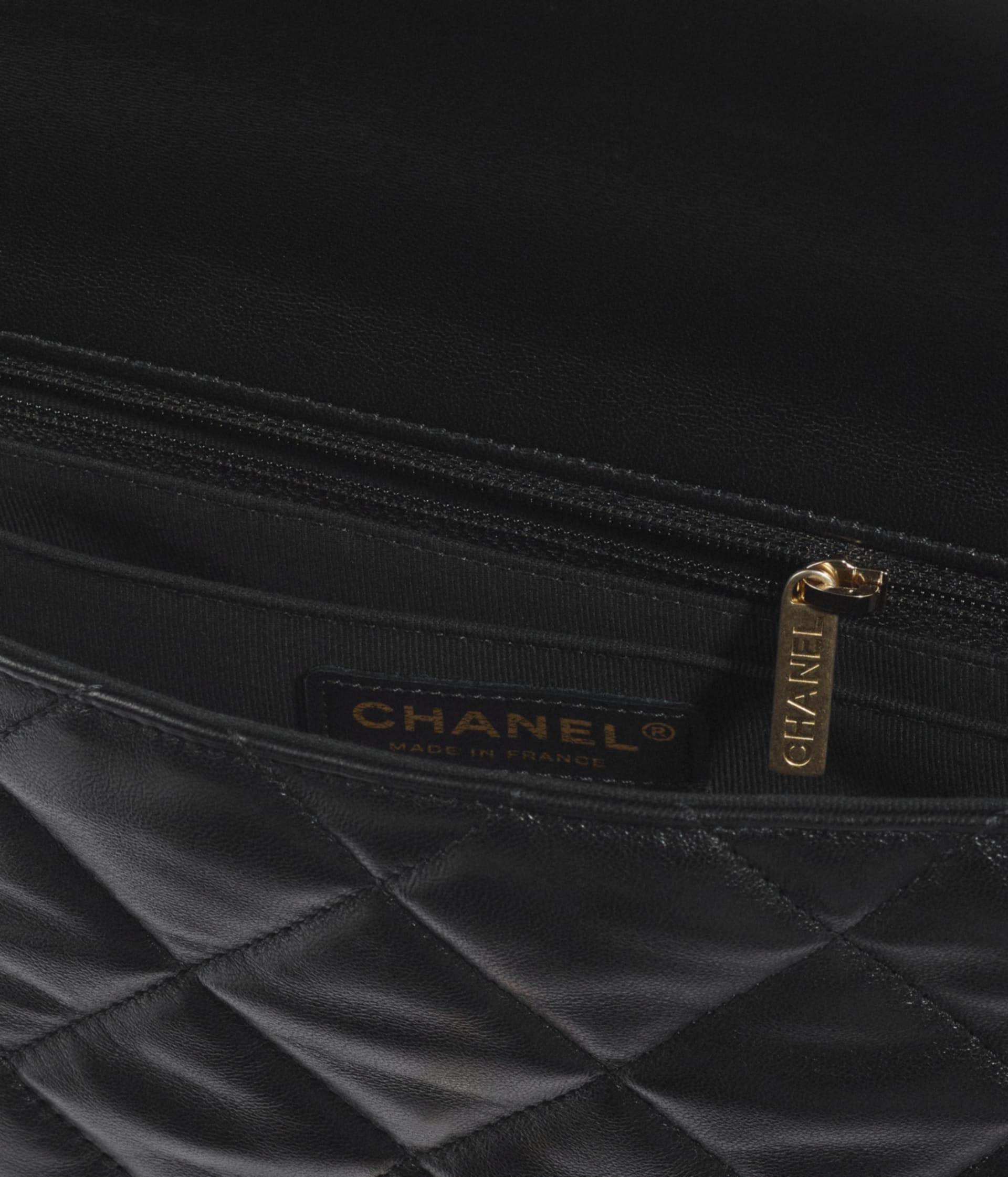 image 3 - Flap Bag - Lambskin & Gold Metal  - Black