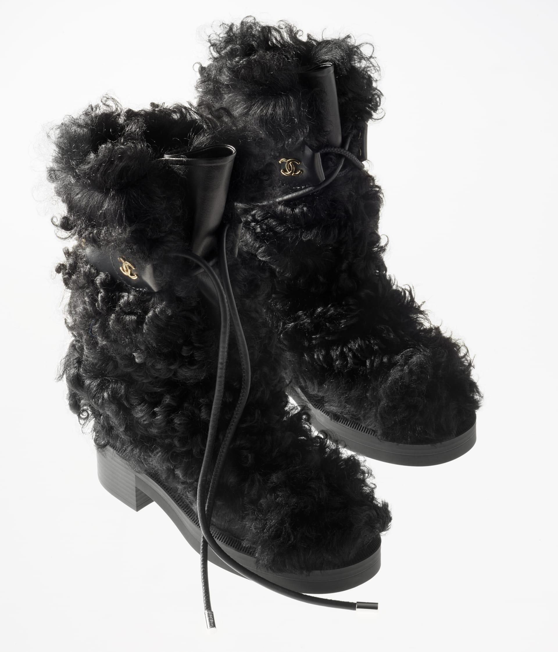 image 2 - High Boots - Shearling Sheepskin - Black