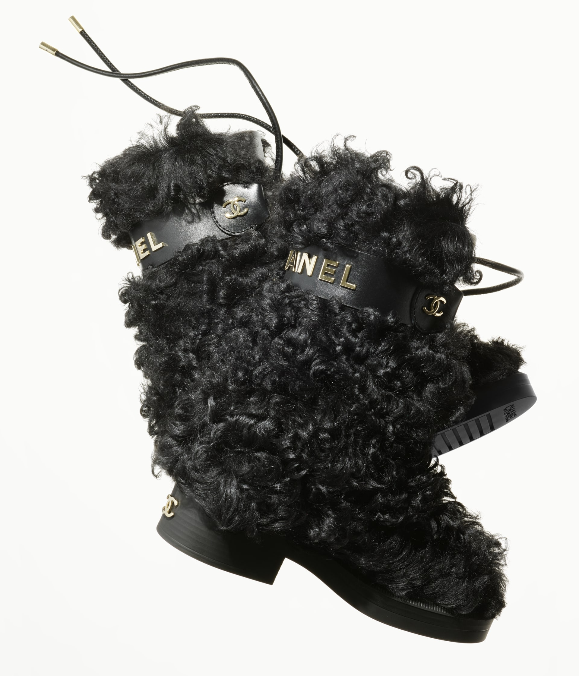image 4 - High Boots - Shearling Sheepskin - Black