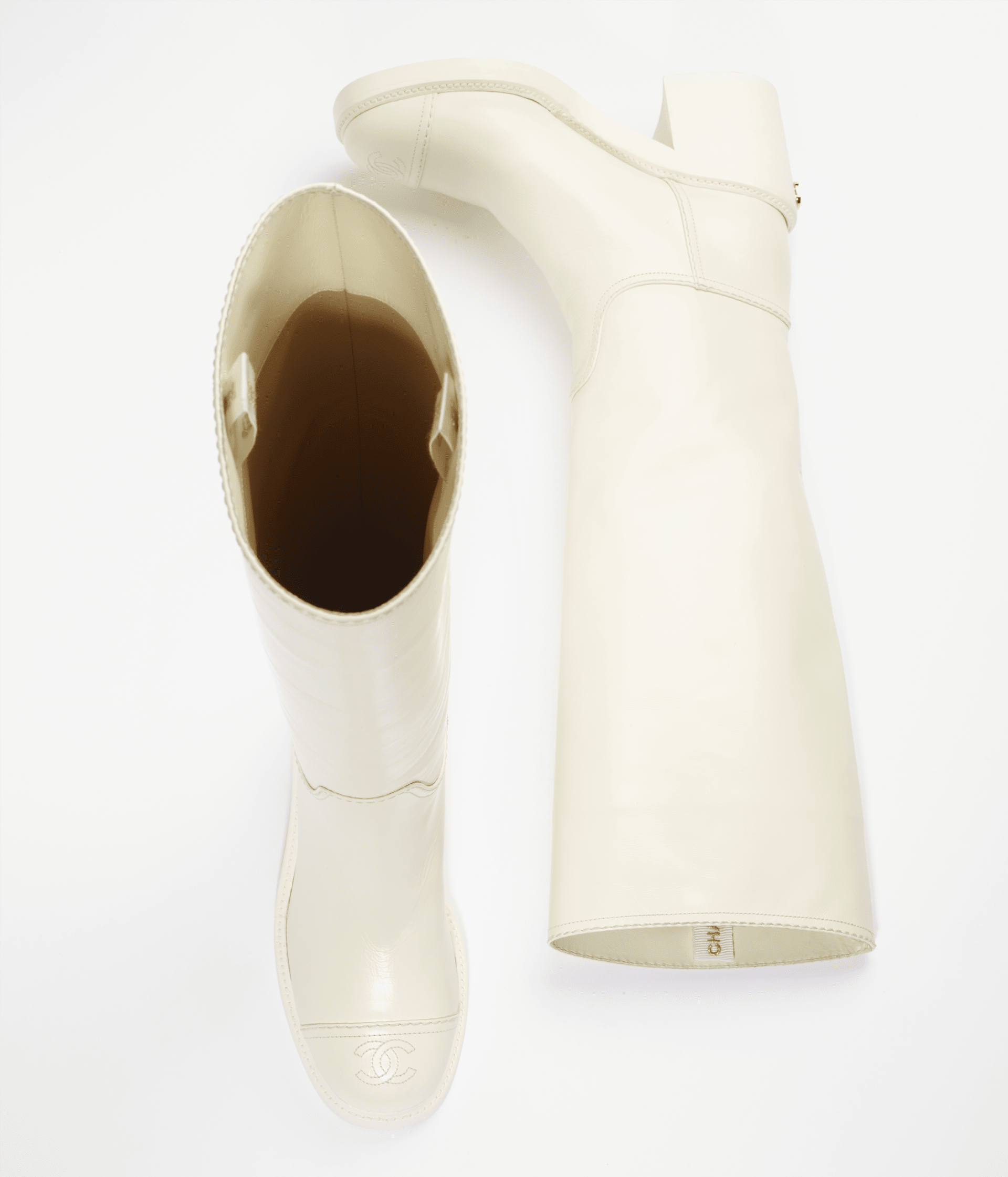 image 2 - High Boots - Calfskin - White
