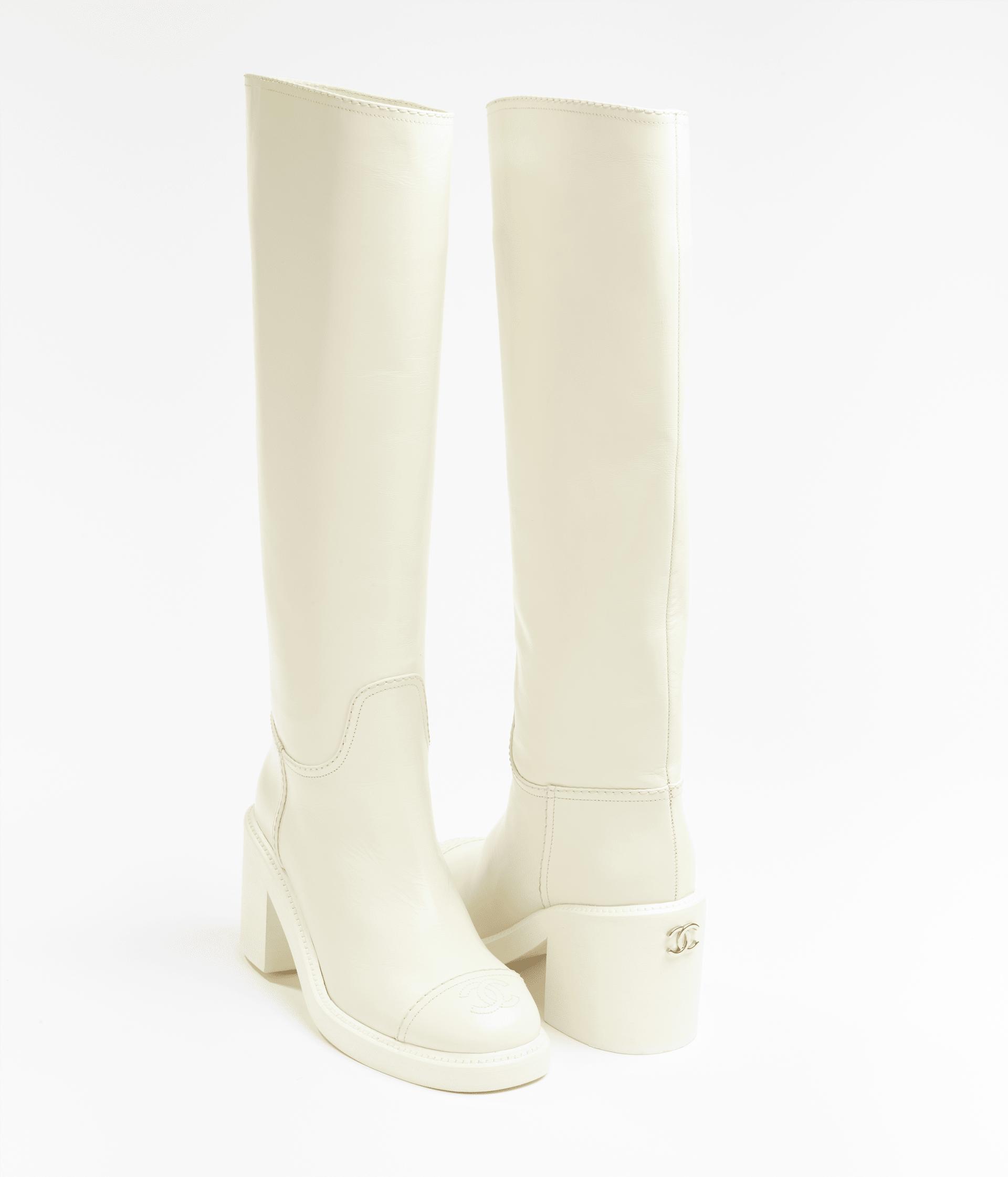 image 3 - High Boots - Calfskin - White