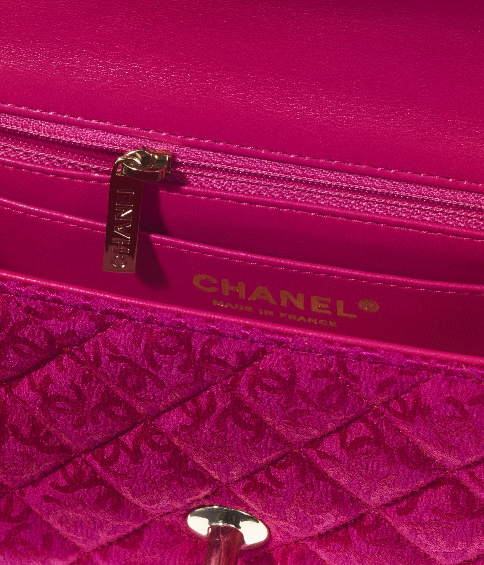 image 3 - Bolsa Mini - Silk Jacquard & Gold-Tone Metal - Rosa Escuro
