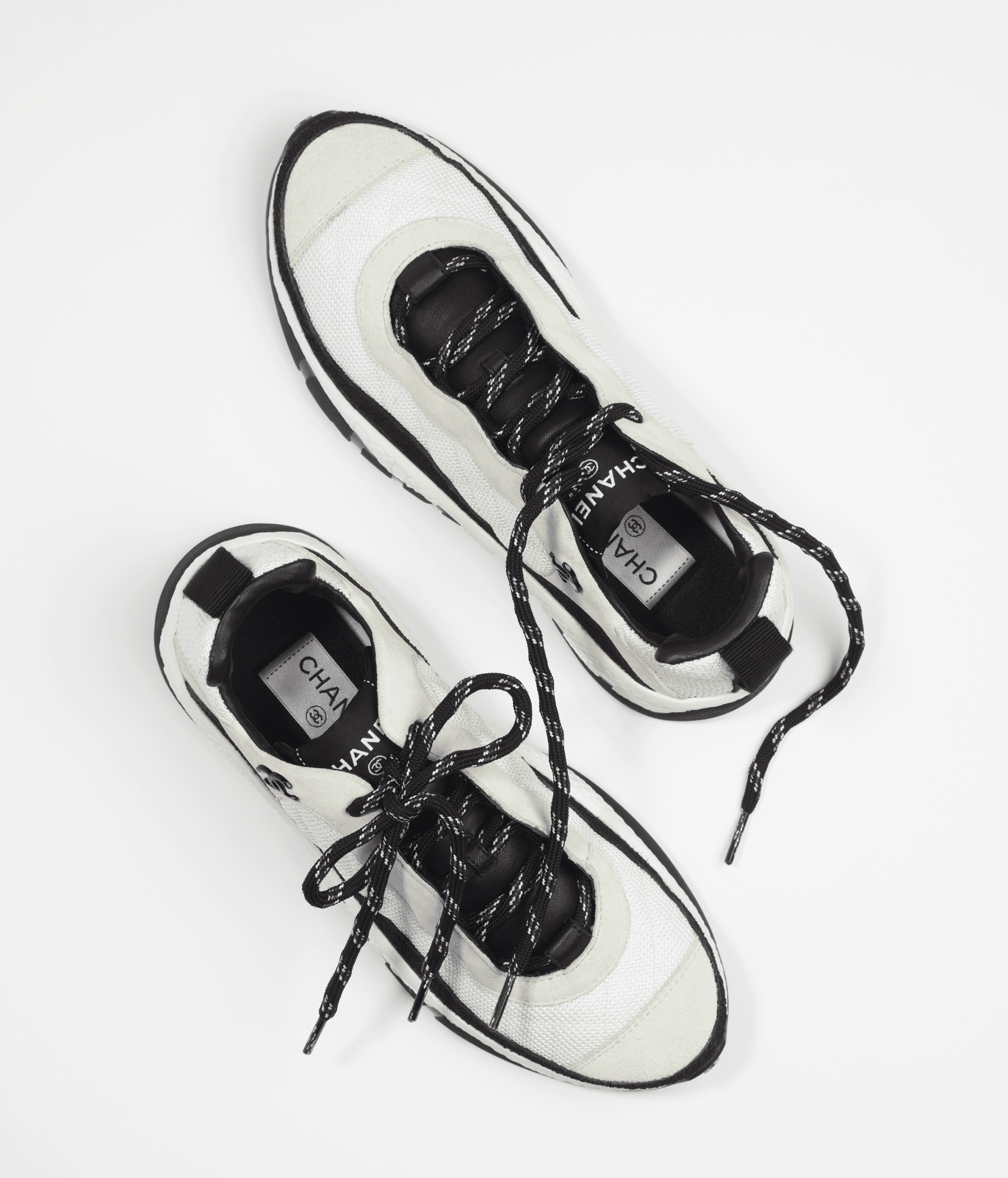 image 2 - Sneakers - Fabric & Suede Calfskin - White & Ivory