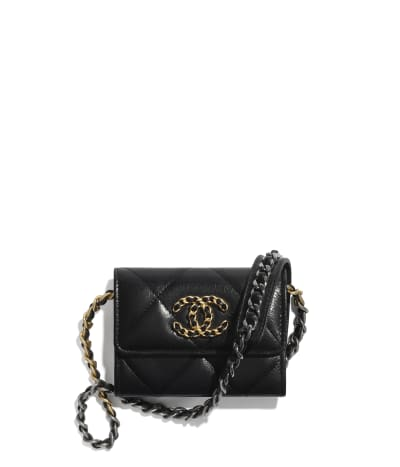 CHANEL 19 Flap Coin Purse with Chain