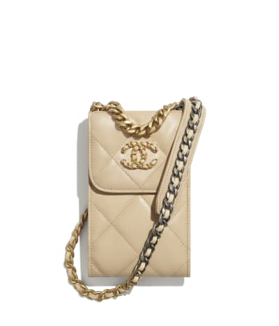 CHANEL 19 Phone Holder with Chain