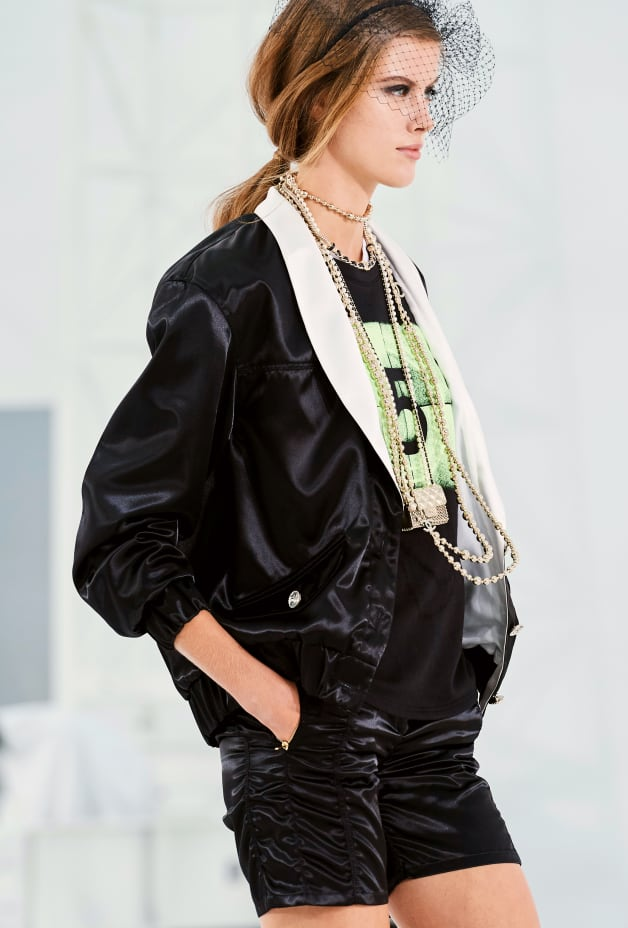 image 2 - Blouson - Mixed Fibers - Black & Ecru
