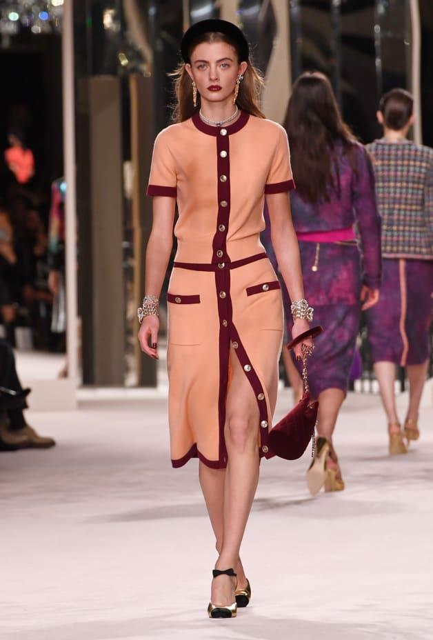 image 1 - Cardigan - Cashmere - Orange & Burgundy