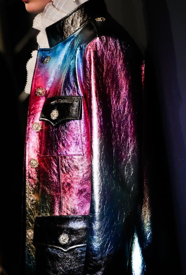image 3 - Manteau - Agneau - Noir, rose, bleu & doré