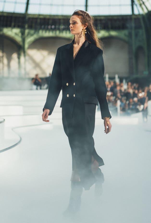 image 1 - Manteau - Drap de laine - Noir
