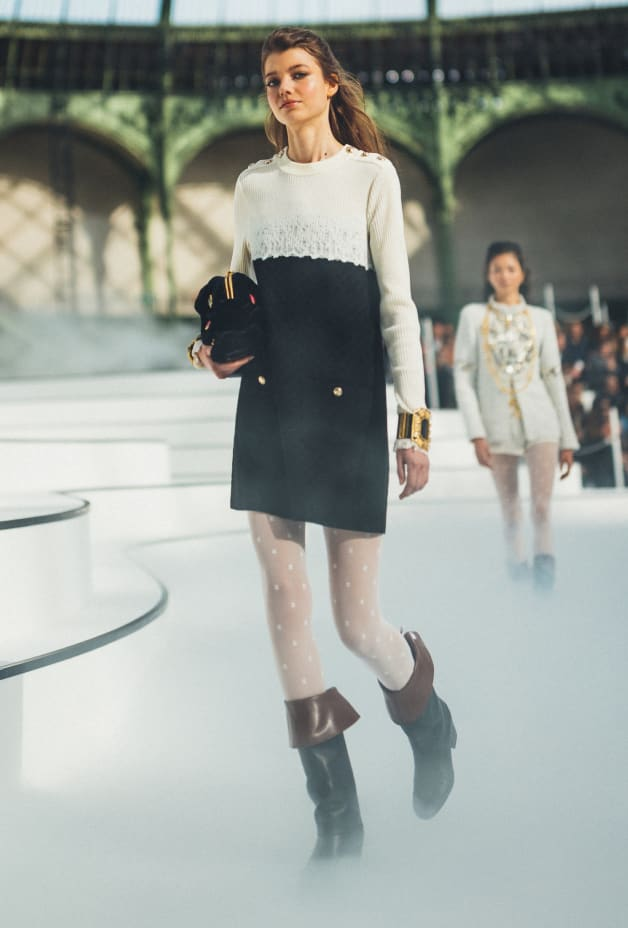 image 1 - Dress - Wool - Black & Ecru