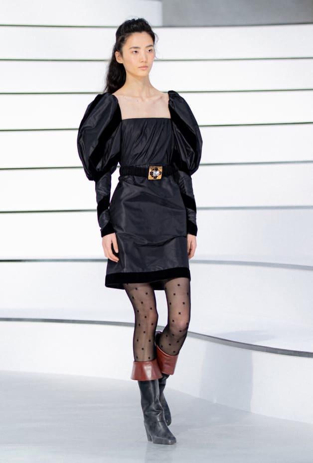 image 1 - Robe - Taffetas de soie - Noir