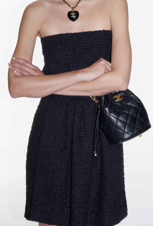 image 2 - Dress - Tweed - Black