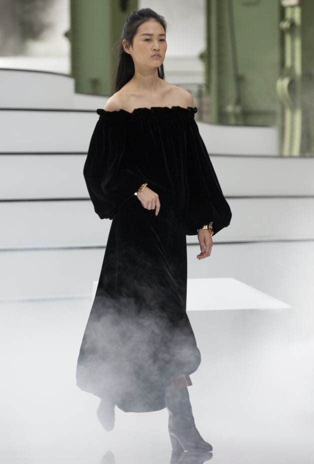 image 1 - Robe - Velours - Noir