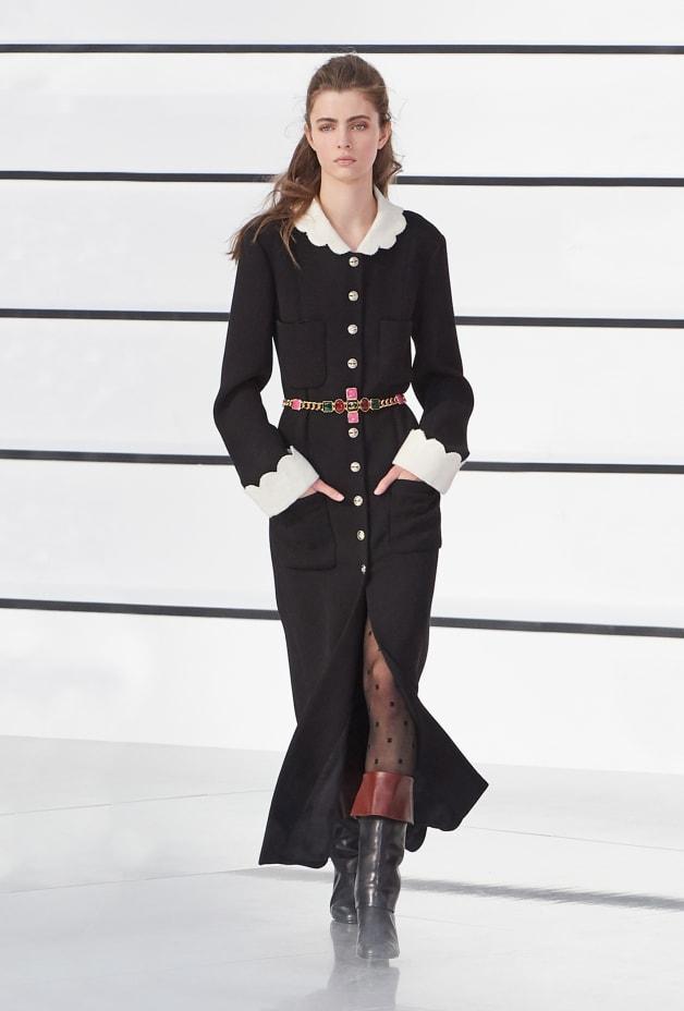 image 1 - Dress - Wool Crepe - Black