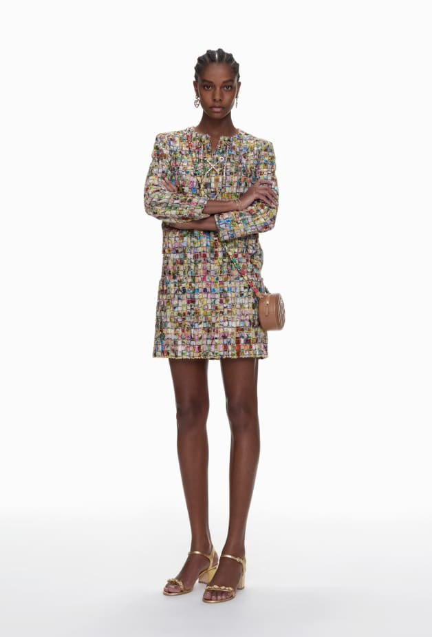 image 1 - Dress - Cotton Tweed - Multicolour