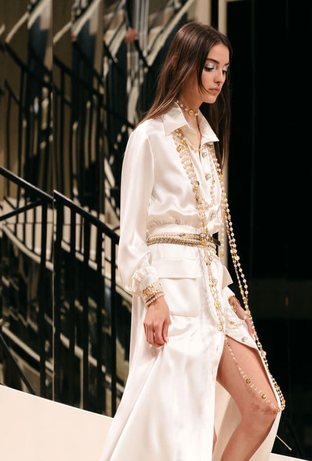 image 2 - Dress - Satin Crepe - White