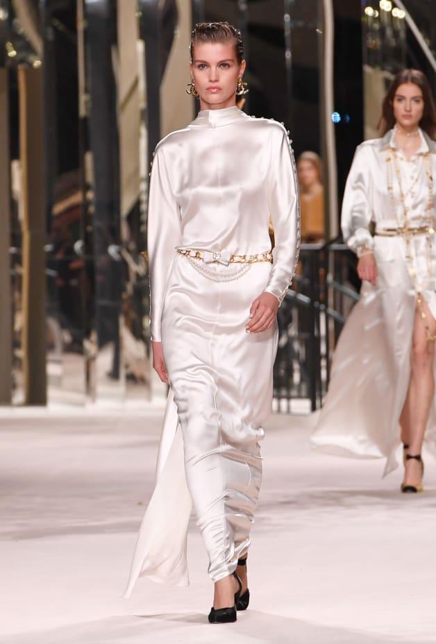 image 1 - Dress - Satin Crepe - White