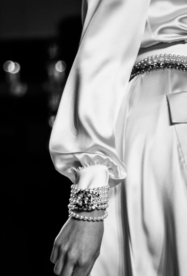 image 3 - Dress - Satin Crepe - White