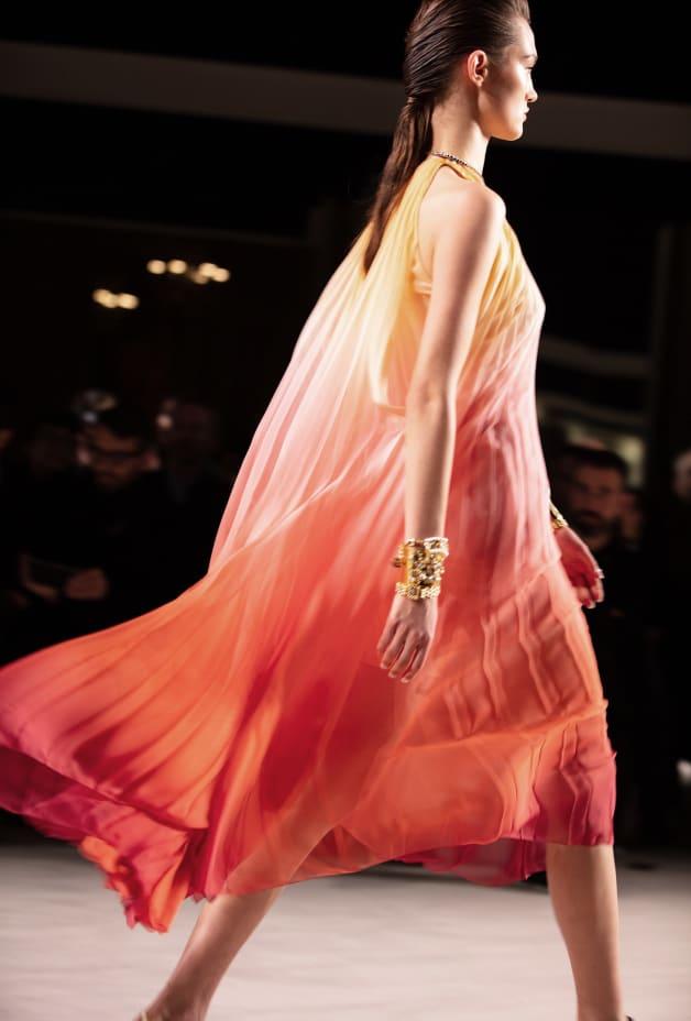 image 2 - Dress - Silk Muslin - Yellow, Pink & Red