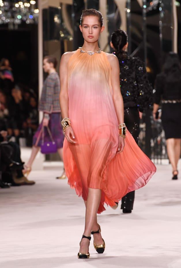 image 1 - Dress - Silk Muslin - Yellow, Pink & Red