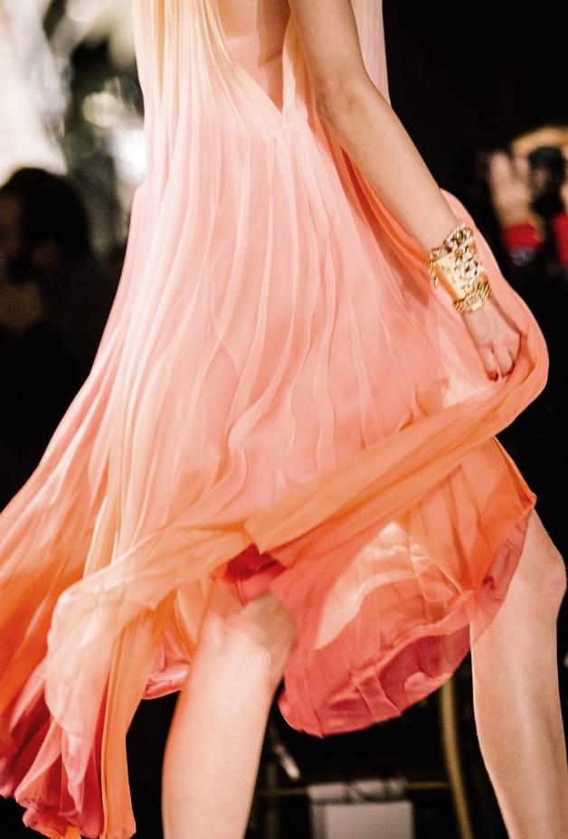 image 3 - Dress - Silk Muslin - Yellow, Pink & Red
