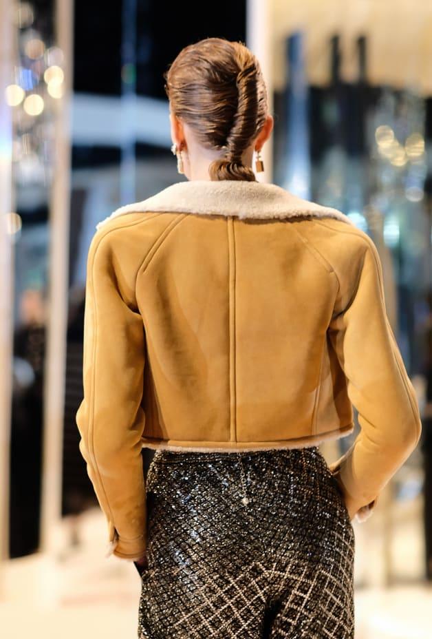 image 2 - Jacket - Shearling Lambskin - Beige & Ecru