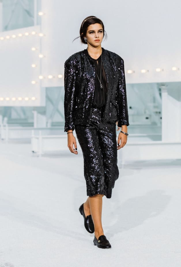 image 1 - Jacket - Sequin Embroidered Silk Muslin - Black