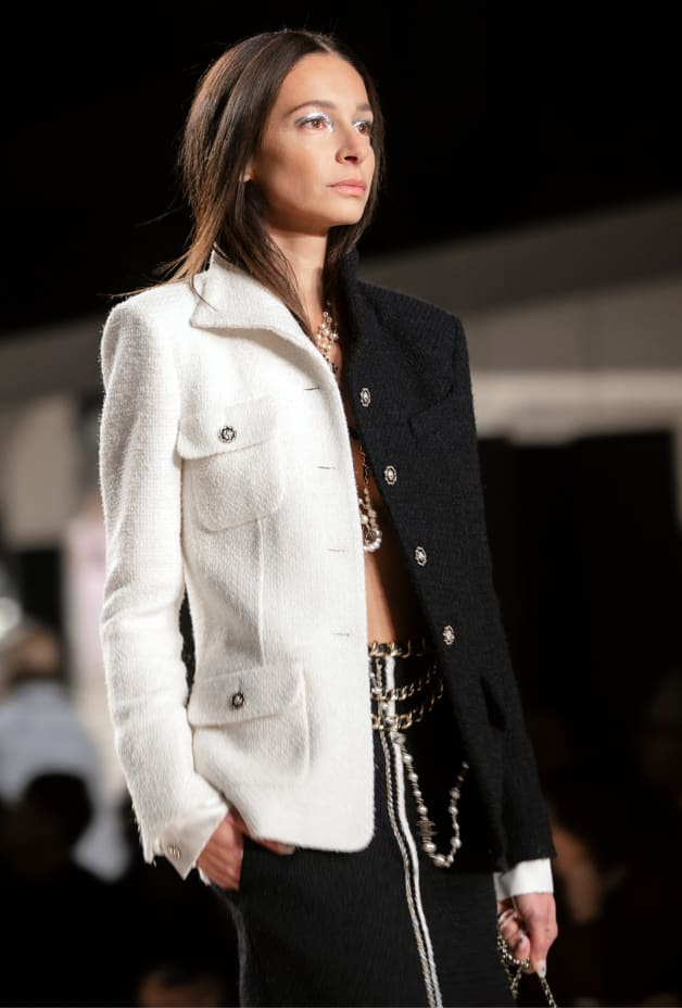 image 2 - Jacket - Wool Tweed - Black & White