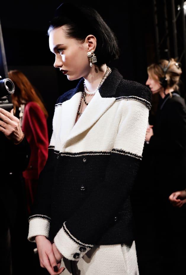 image 2 - Veste - Tweed de laine - Noir & blanc