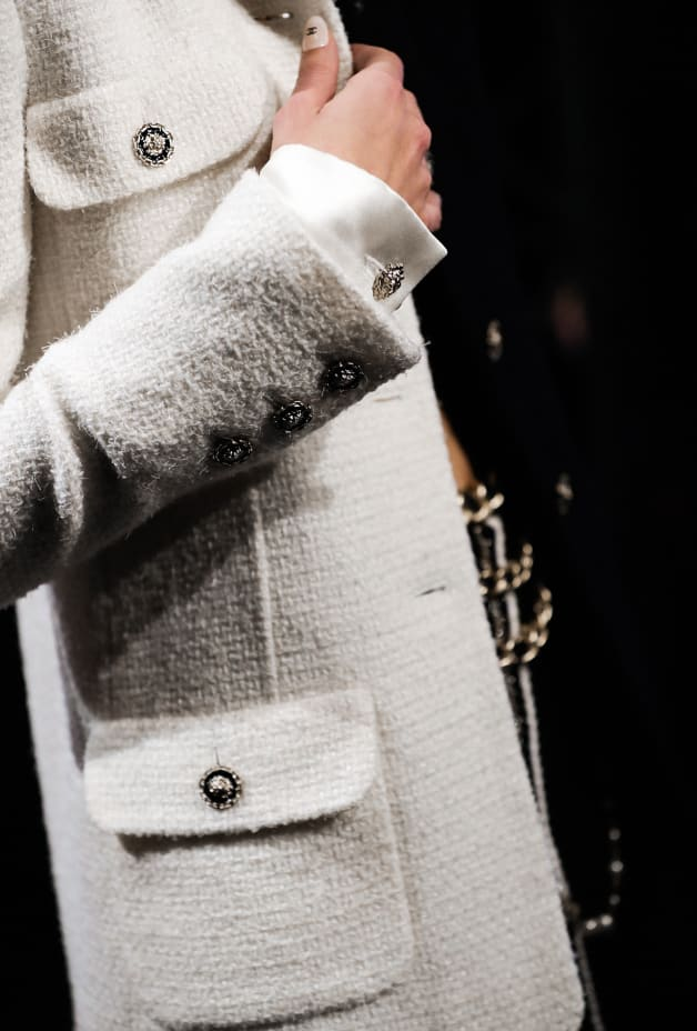 image 3 - Jacket - Wool Tweed - Black & White