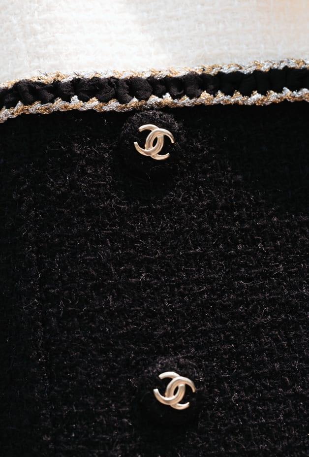 image 3 - Veste - Tweed de laine - Noir & blanc