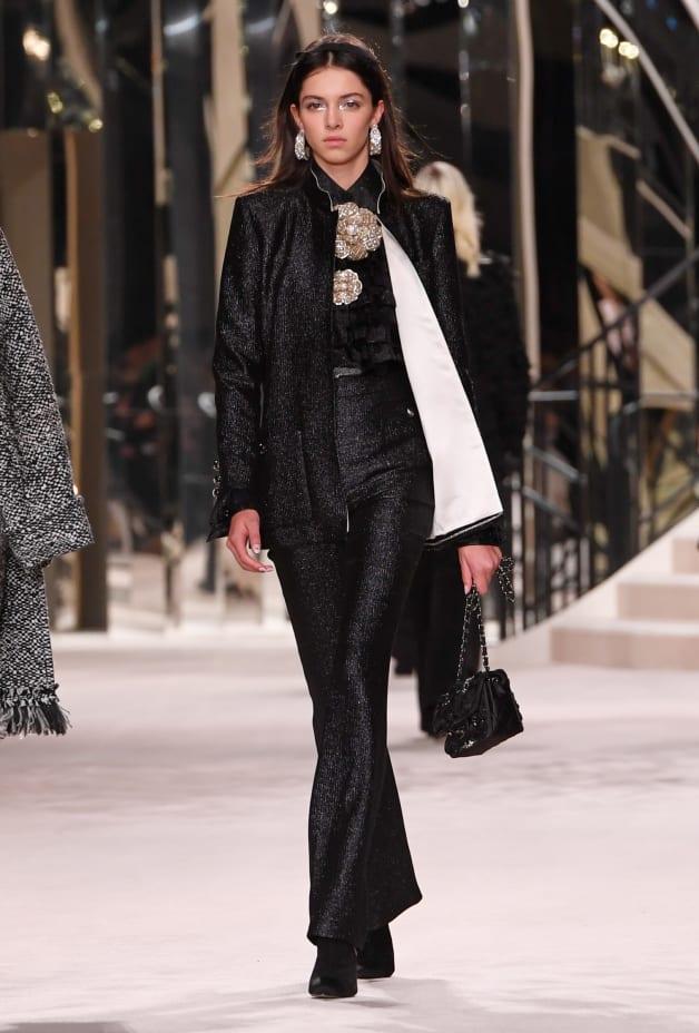 image 1 - Jacket - Wool, Silk & Metallic Fibers - Black