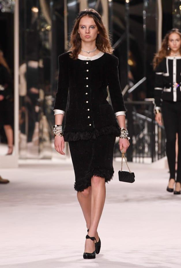 image 1 - Jacket - Wool Tweed - Black