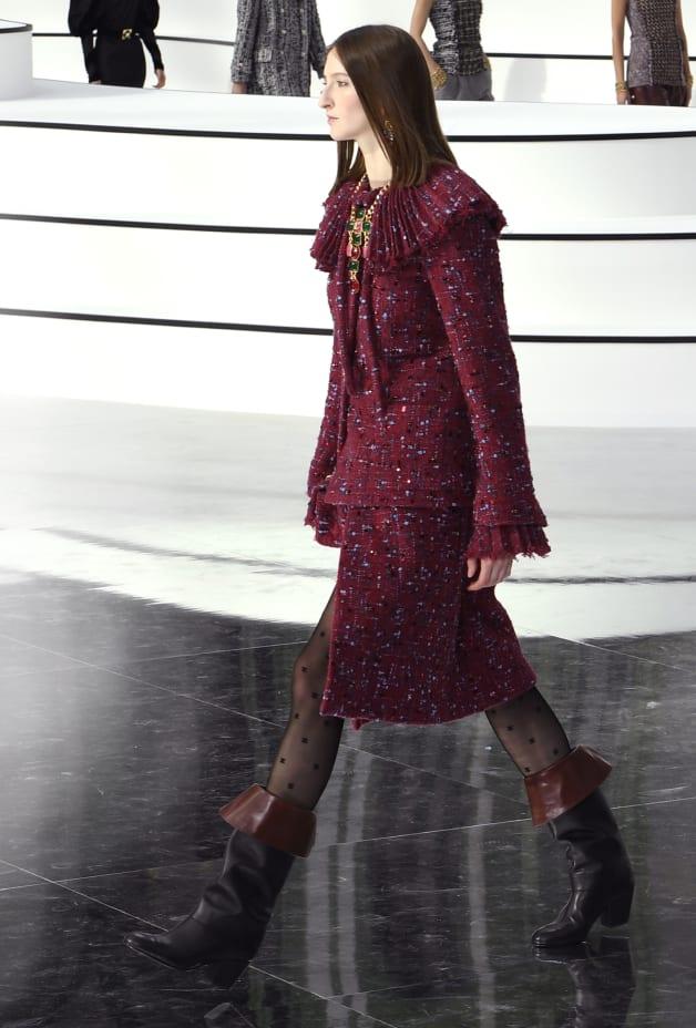image 1 - Jacket - Embroidered Tweed - Burgundy, Blue & Gray