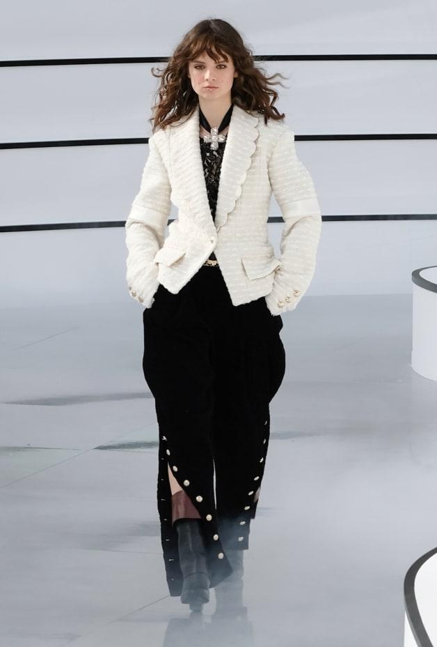 image 1 - Jacket - Wool Tweed & Mixed Fibers - Ecru