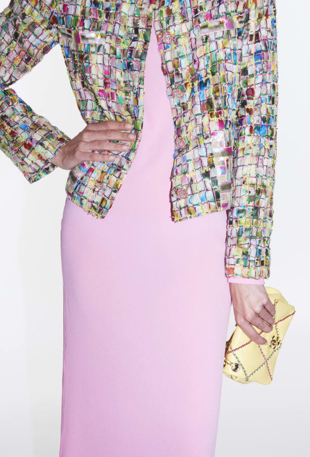 image 1 - Jacket - Embroidered Cotton Tweed - Multicolor