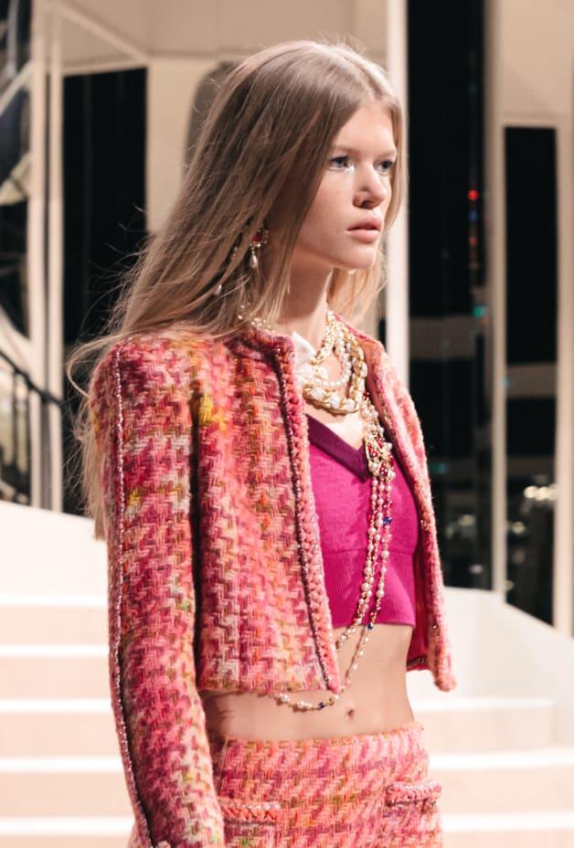 image 2 - Jacket - Tweed - Pink, Fuchsia & Yellow