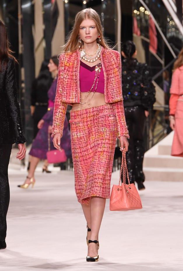 image 1 - Jacket - Tweed - Pink, Fuchsia & Yellow