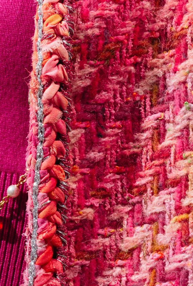 image 3 - Jacket - Tweed - Pink, Fuchsia & Yellow