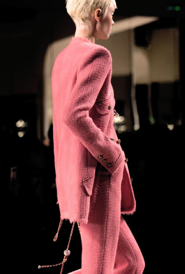 image 2 - Jacket - Iridescent Wool Tweed - Pink