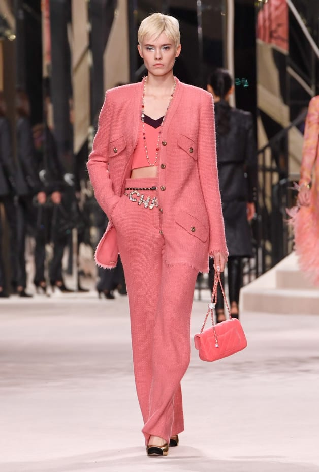 image 1 - Jacket - Iridescent Wool Tweed - Pink