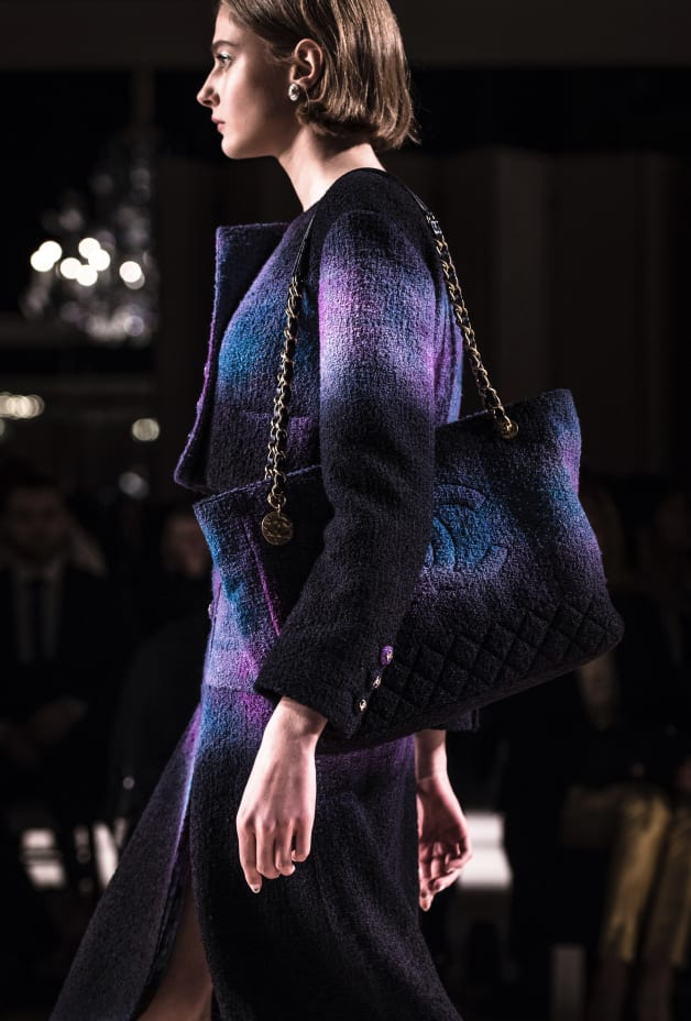 image 2 - Jacket - Wool Tweed - Purple, Black & Blue
