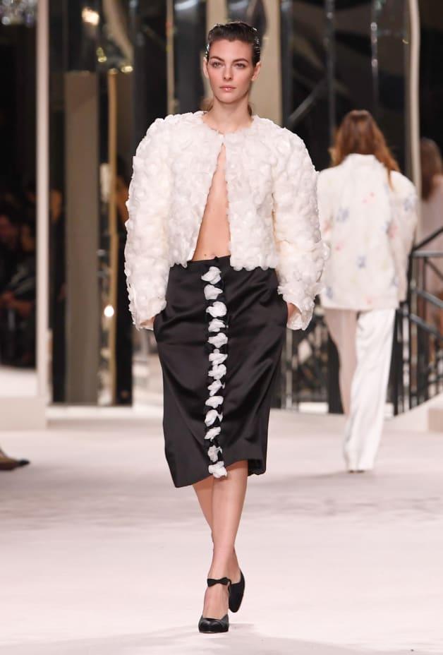 image 1 - Jacket - Embroidered Silk - White