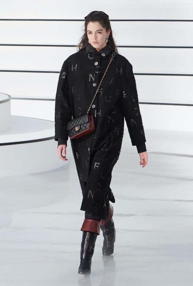 image 1 - Jeans - Printed Denim - Charcoal & Black