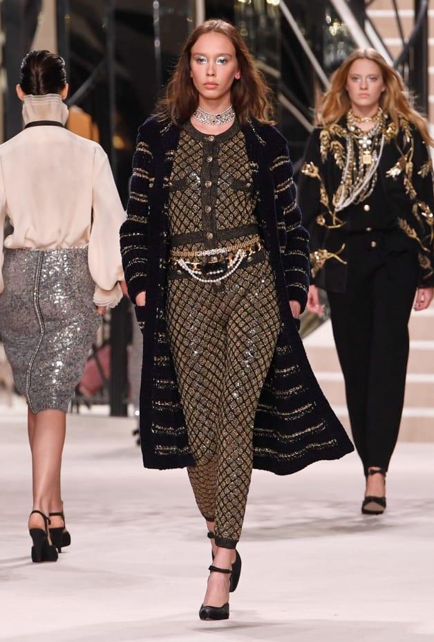image 1 - Jumpsuit - Wool & Mixed Fibers - Gold & Black